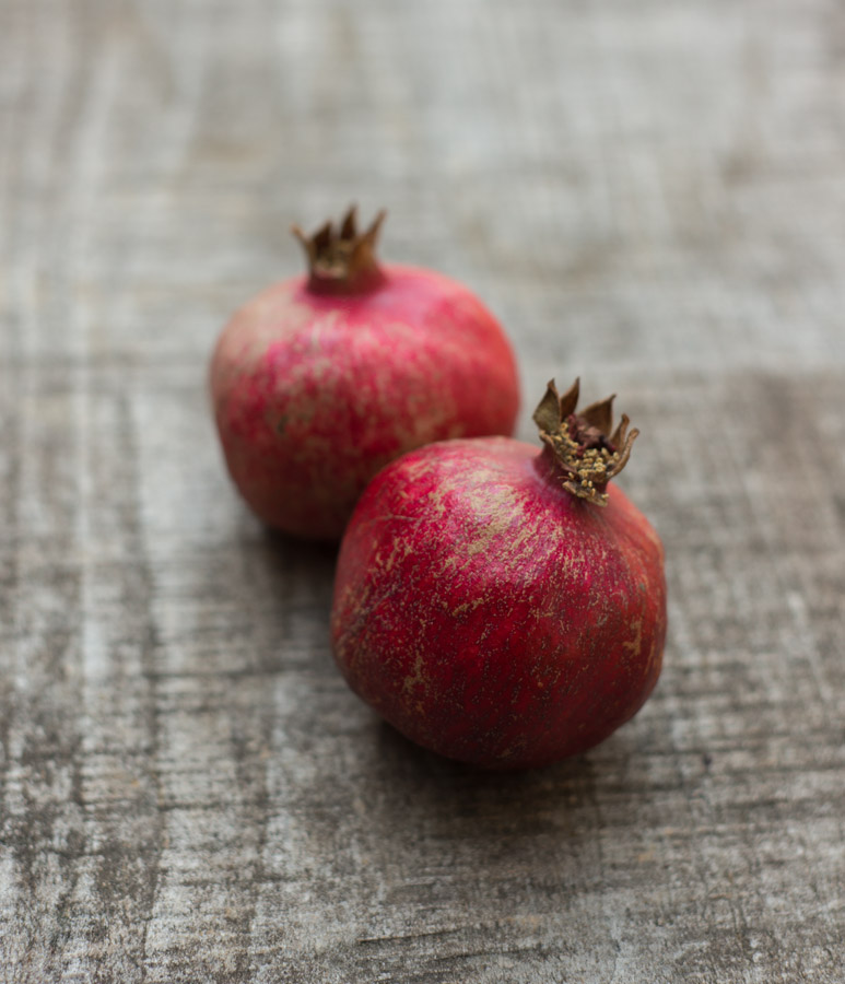 Pomegranates are here, which means it's allllllmost Fall! I'm thinking of making  Pomegranate Challah ,  Persimmon Salad with Pomegranate Seeds , or a  Pom Cocktail . Cheers!   By Erin Gleeson for  The Forest Feast