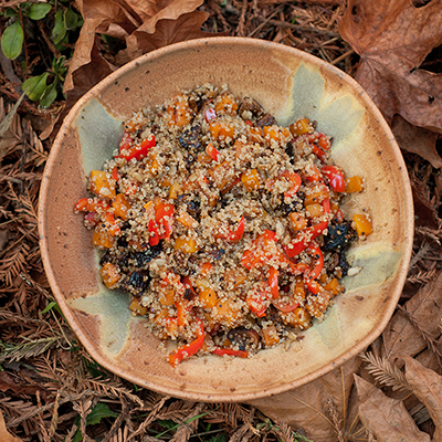 Quinoa with Peppers & Figs