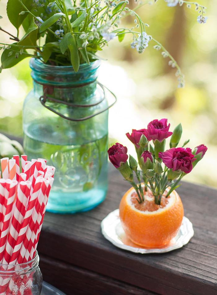 """Citrus Flower """"Vase"""""""