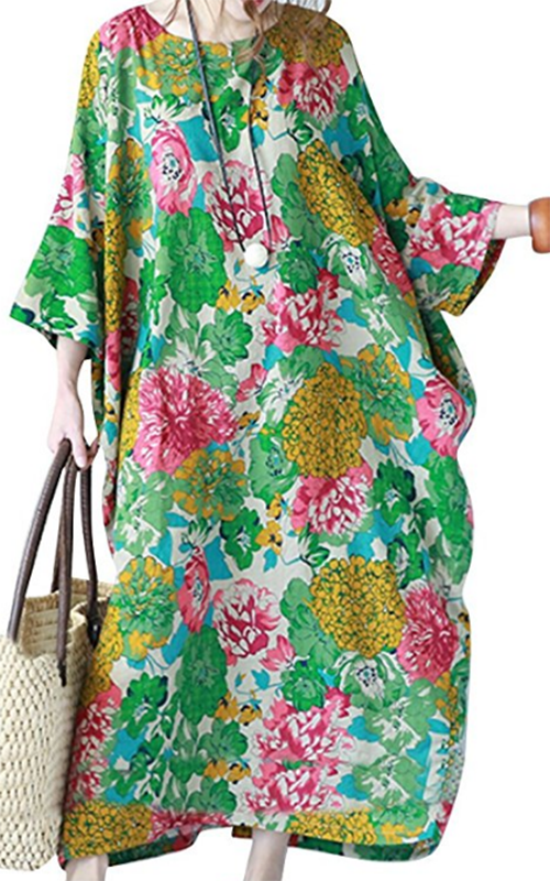 YesNo Floral Caftan Dress