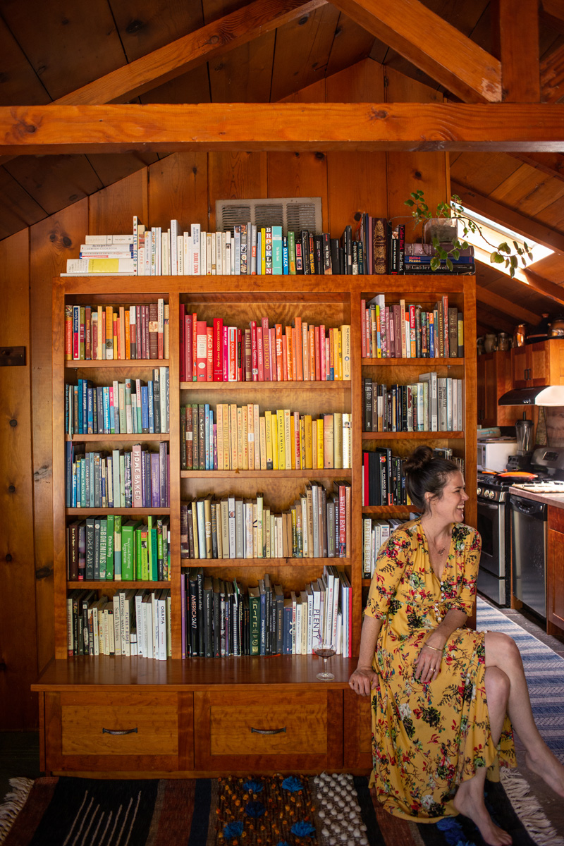 Color Coded Bookshelf And My Favorite Spring Dress The Forest Feast