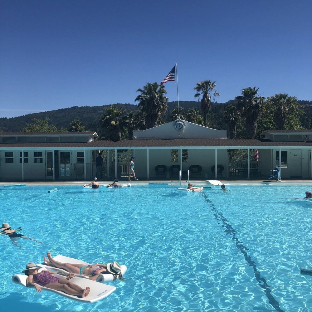 A HOT SPRING GETAWAY IN NAPA    I drove 2 hours north to Napa County and did a 24-hour stay at a vintage-inspired hot-spring resort in Calistoga.
