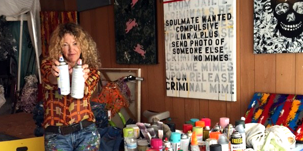 Bridgette Shaw in her studio
