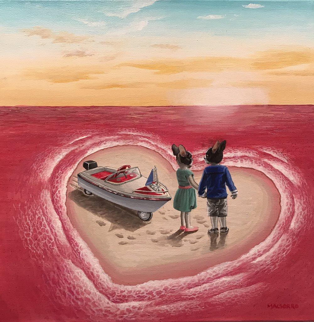 """Heart Island"" 12""x12"""