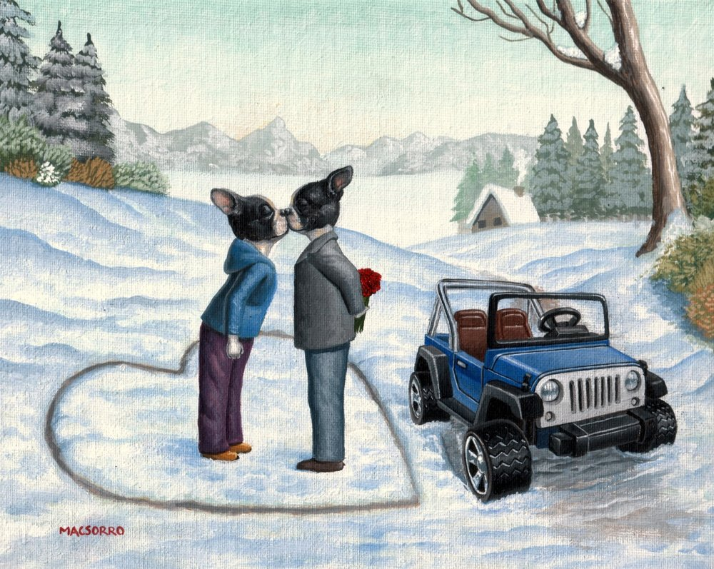 """Winter's Kiss"" 8""x10"""