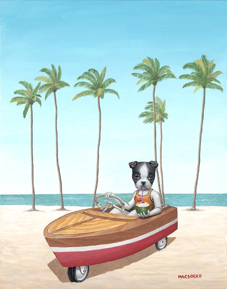 """""""Coco Beach"""" 14""""x11"""""""