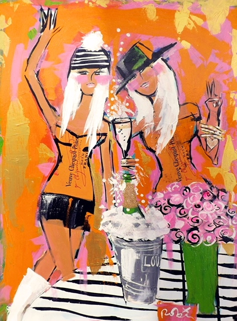 """Friends and Champagne"" (Sold)"
