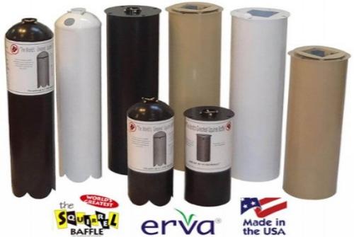 Cylinder pole baffles