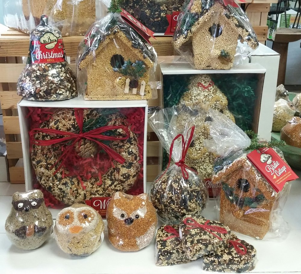 Mr Bird Seed ornaments.