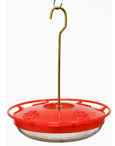 Aspects feeders are most suitable for orioles. Orange halves can be added to center stem.