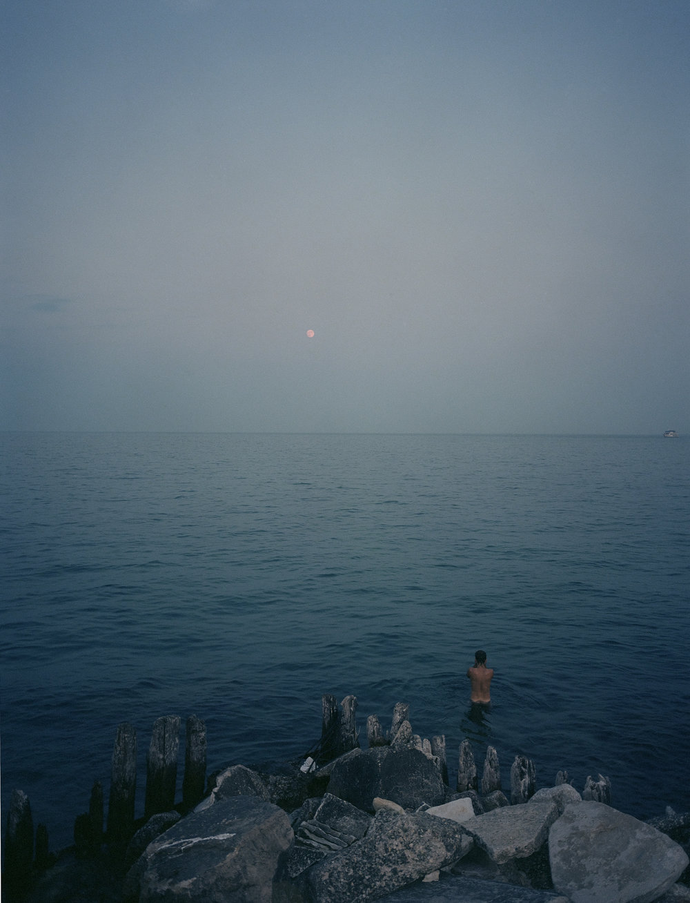 "Isaac and the Moon, 2013 Archival Inkjet Print 19.75"" x 27.5"""