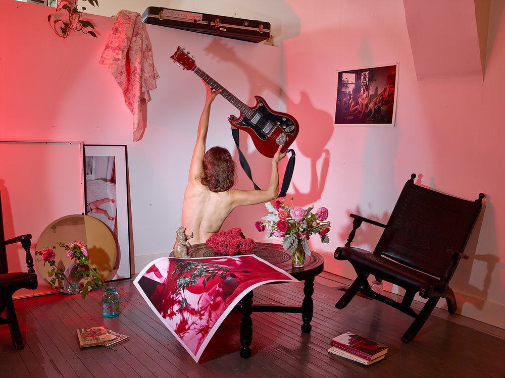 Photographic Composition with Mia's Guitar , 2016 Archival Inkjet Print 30 x 22.5 inches
