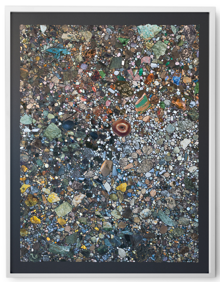 Rocks & Mineral VI , 2016 Collage on archival paper 40 x 32 inches, framed