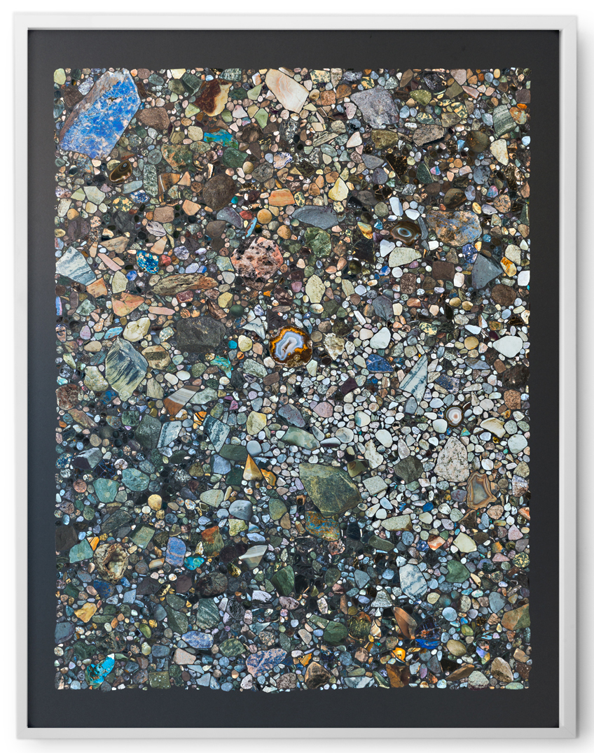 Rocks & Mineral VII , 2016 Collage on archival paper 40 x 30 inches, framed