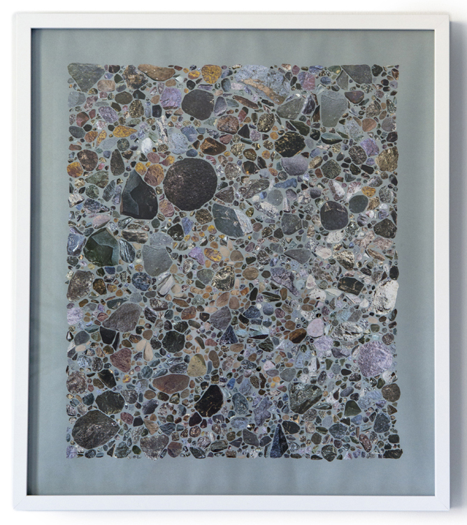 Rocks & Mineral I , 2015 Collage on archival paper 23 x 20 inches, framed