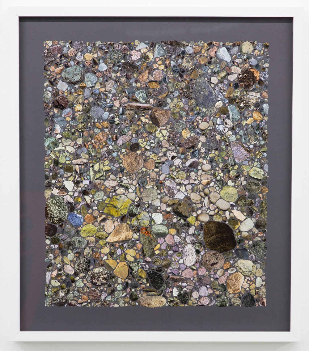Rocks & Mineral III , 2015 Collage on archival paper 23 x 20 inches, framed