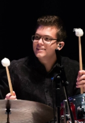 Olivier Guertin, Professeur de batterie