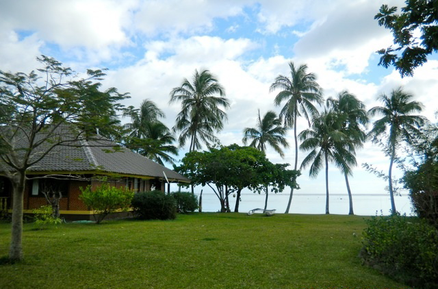 lawn of Private Wedding Estate in Tahiti
