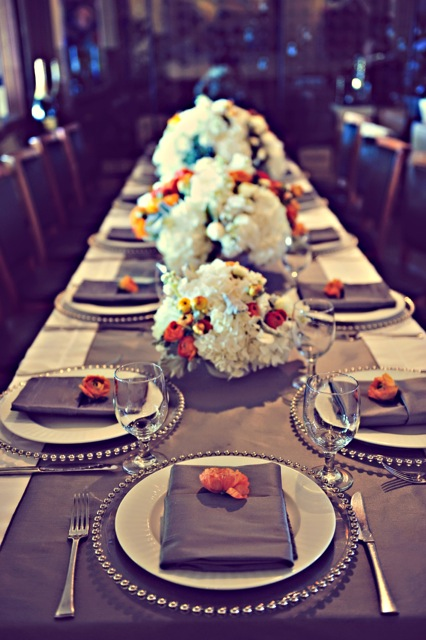 gorgeous table setting for the baby shower in Maui