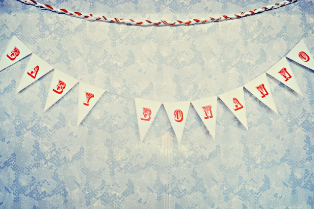 Baby Shower Sign that says Baby Bonanno