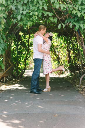engagement shoot in the enchanted gardens