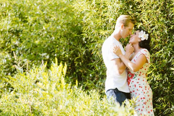 styled engagement session at the enchanted gardens