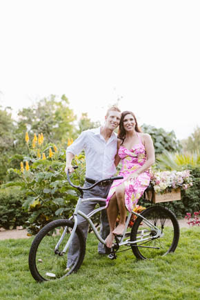 engagement session at the enchanted gardens