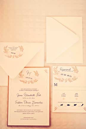 Tristan and Jane wedding invitation