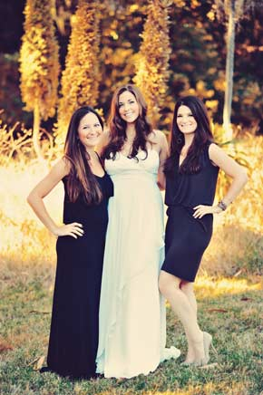 Lorinda, Jane and Lena at Jane's wedding