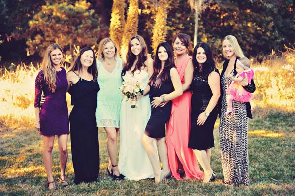 Jane and her girls at Jane and Tristan's wedding