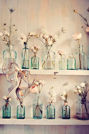 Glass Bottles & Shoes, Haiku Mill, Maui Wedding