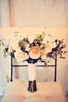 Haiku Mill Wedding, Blush Garden Bouquet