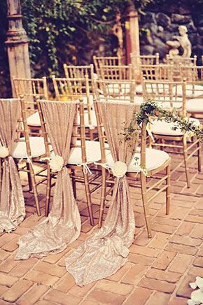 Blush Sequins Accents, Maui Wedding