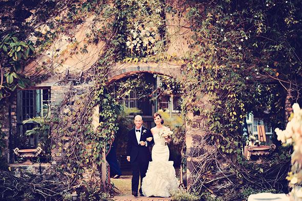 Haiku Mill Wedding, Vera Wang Wedding Gown, Garden Wedding