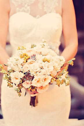 Bridal bouquet, Vera Wang Wedding Gown, Maui Wedding, Haiku Mill