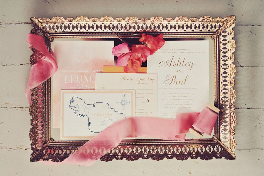 Invite, Invitation, Invitation Suite, Ribbon