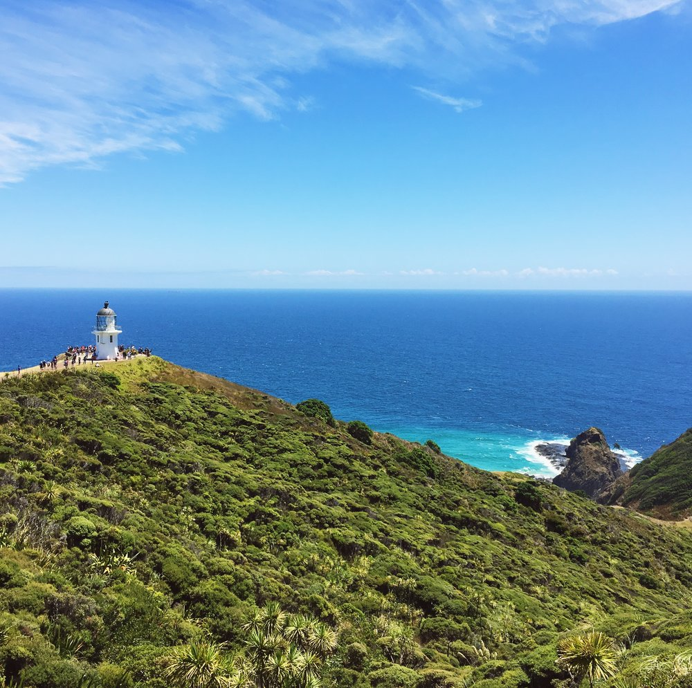 Lighthouse at Cape Reinga.