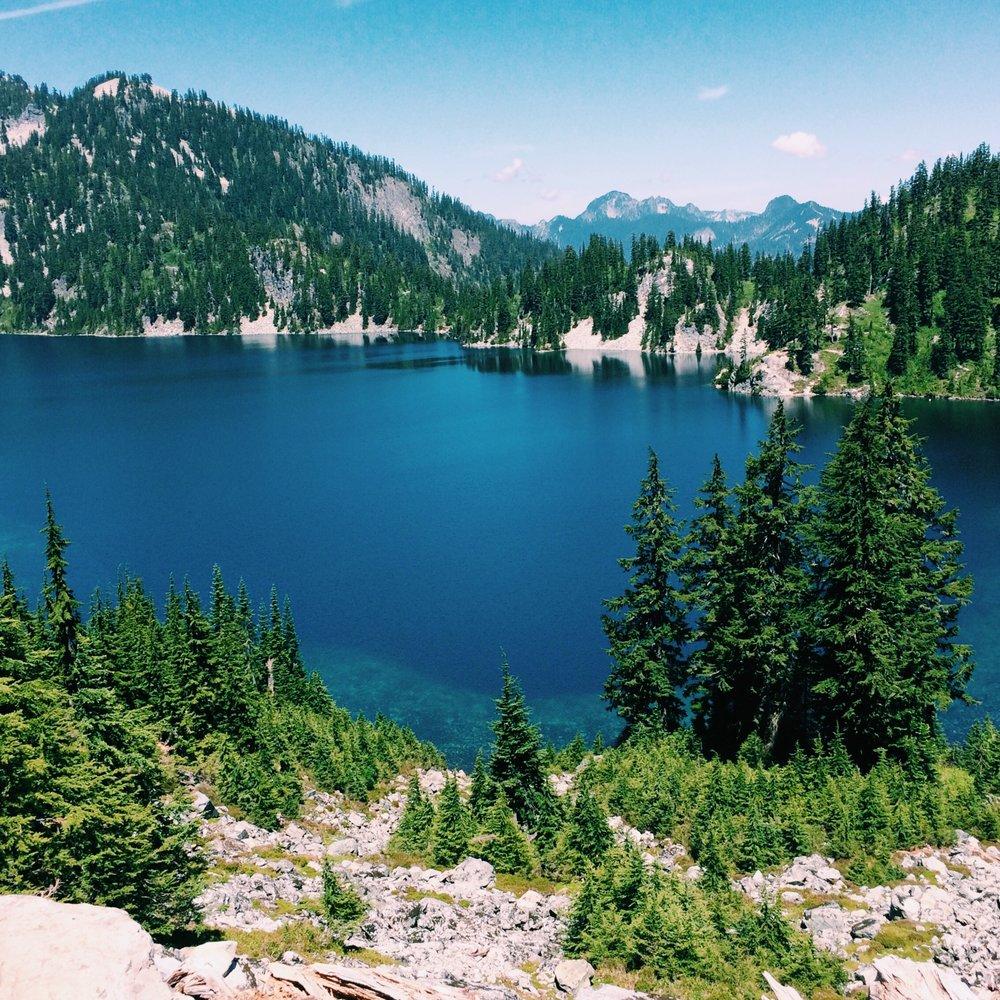 Snow Lake (minus the snow) near Snoqualmie Pass in Washington.