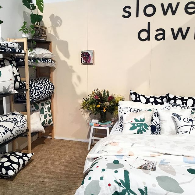 Here all day till 6, come say hi! The Big Design Trade at the Meat Market North Melbourne @thebigdesigntrade #slowerdawn #melbournedesign
