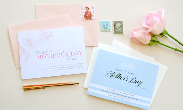 Printable Mother's Day Invitations by TumbleweedPress.Co