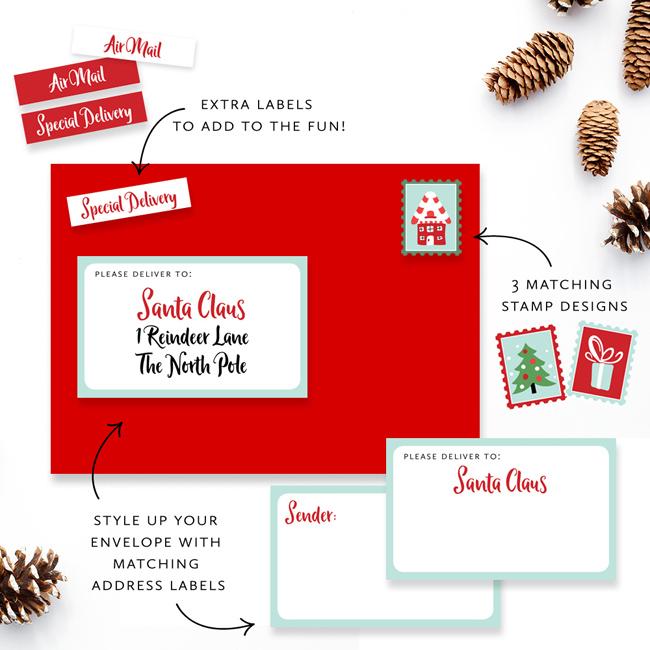 Letter to Santa Printable set by Tumbleweed Press www.tumbleweedpress.co