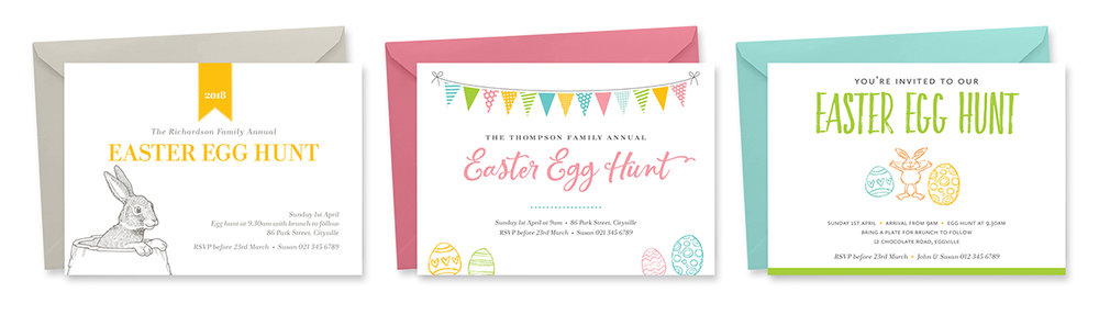Printable Easter Invitations by TumbleweedPress.Co
