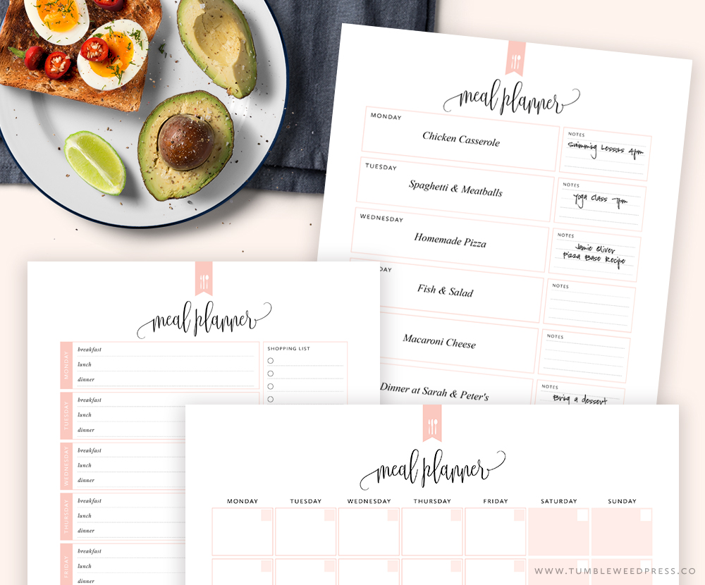 Printable Meal Planning Kit by TumbleweedPress.Co #printable #mealplanner #printablekit