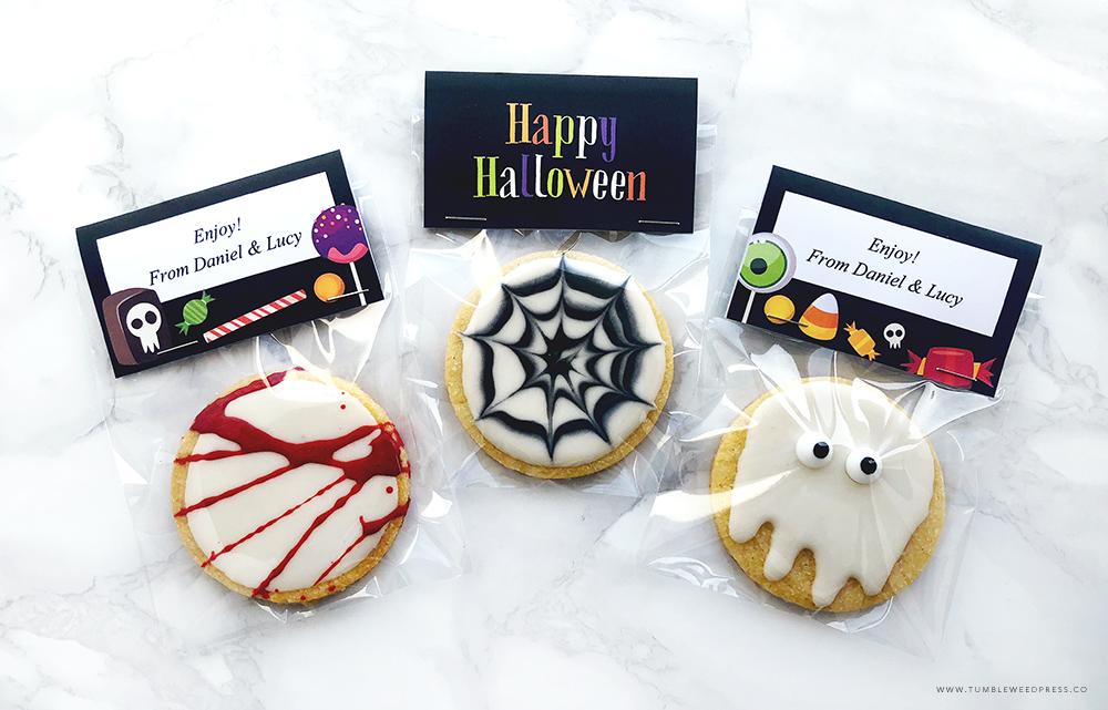 Printable Halloween Cookie Treat Bags by TumbleweedPress.Co