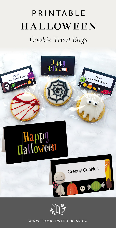 Printable Halloween Treat Bags by www.TumbleweedPress.Co