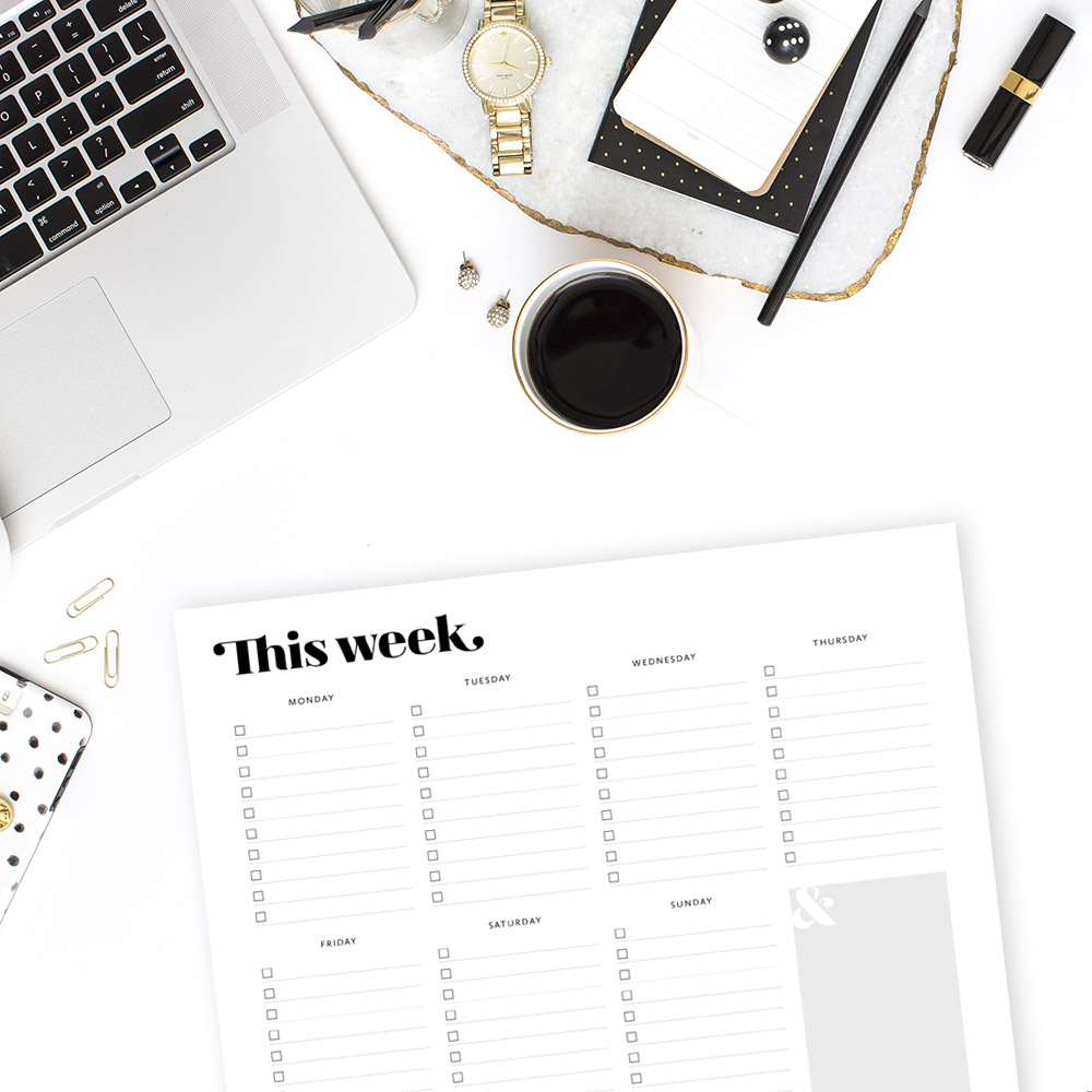 Printable Weekly Planner by TumbleweedPress.Co