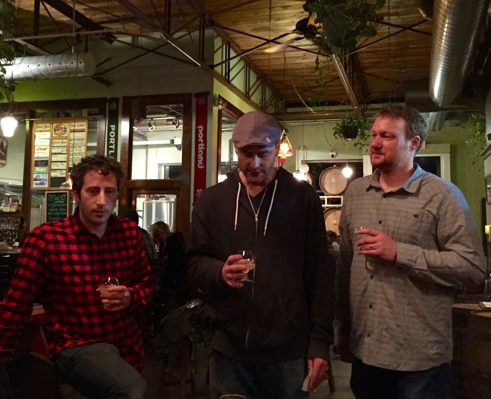 Paul Reiter, James Dugan and Andy Miller of Great Notion Brewing