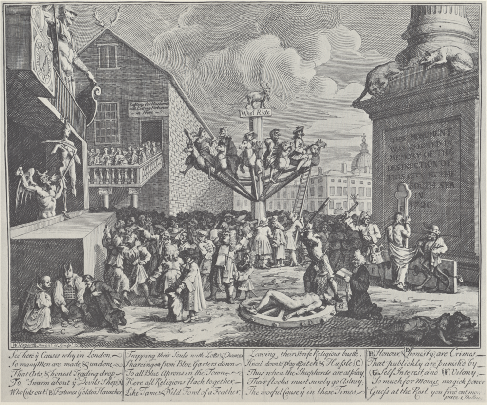 William Hogarth,  The South Sea Scheme  (1721)