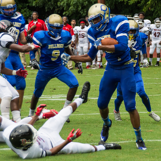 Josh Tate with Chamblee's first 2016 TD