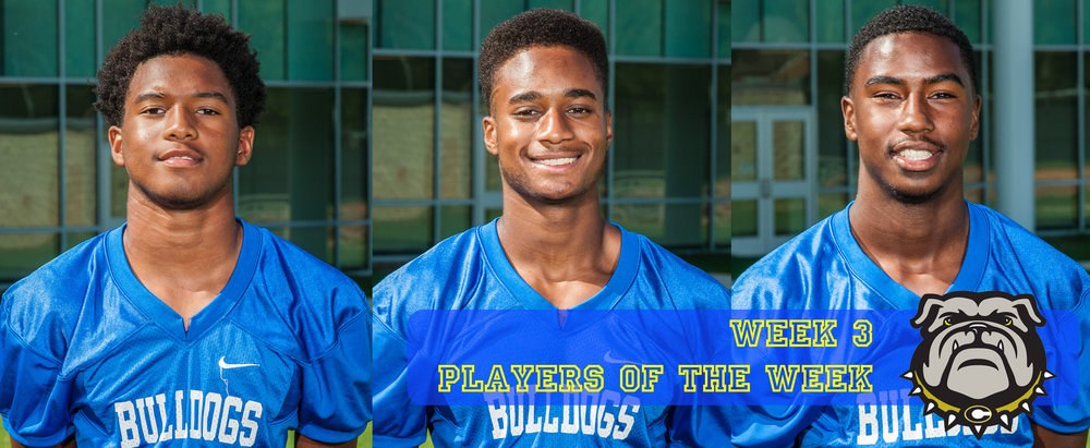 Josh Tate, Tyler McClinton, and Jansen King were Players of the Week for Week 3.